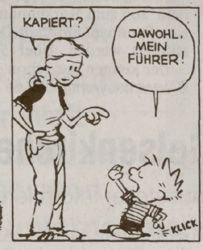 Calvin and Hobbes in German! (Got it? Yes, my leader!)