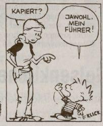 Calvin and Hobbes in German! (Got it? Yes, my leader!)