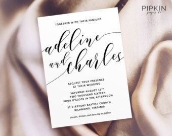 Printable Wedding Invitation   Made to Order Header   Script Invitation Template   Customizable Digital Template   Free RSVP Template    Are you a wedding supplier? Sign up to our reviews and directory for FREE today!    www.theweddingsuppliernetwork.co.uk