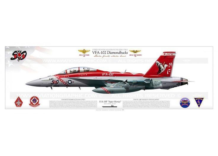 """F / A-18F VFA-102 """"Diamondbacks"""" CAG JP-1217"""