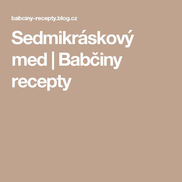 Sedmikráskový med | Babčiny recepty