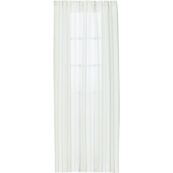 Pippa Mint Curtains    Crate and Barrel
