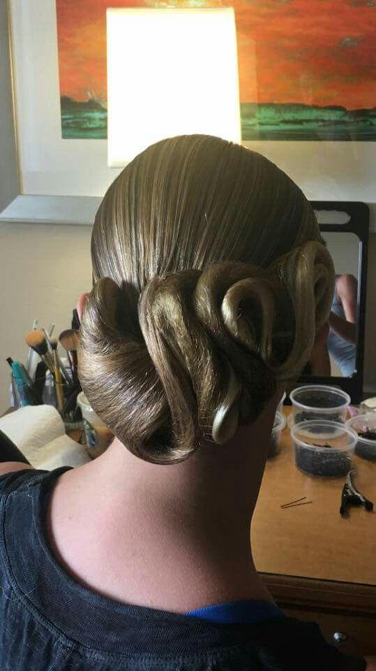 Ballroom hair. #dancesport #ballroomdance #ballroomhair