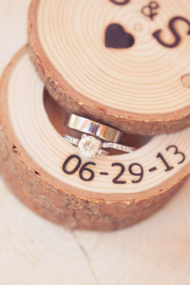 Wedding date wood keepsake for rings | DIY Project