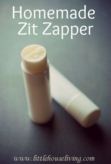 Homemade Zit Zapper Sticks. Super easy to make with only 2 ingredients! All natural and they actually work!