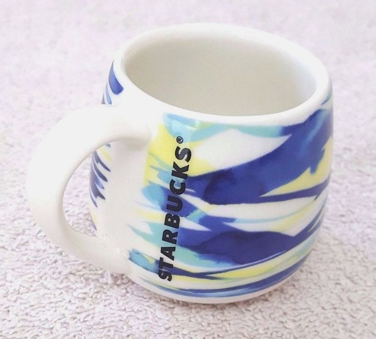 Starbucks Cup Blue Limited Edition Spring 2016 3oz Espresso Mug Mini  #StarbucksCoffeeCompany