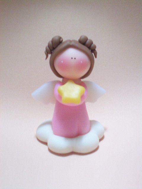 Angelita adorno de torta | Flickr: Intercambio de fotos