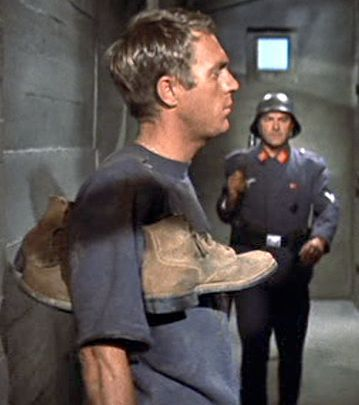 """Steve McQueen As Virgil Hilts """"Cooler King"""" in The Great Escape"""