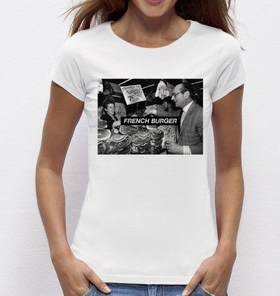 #Tshirt #French Burger - Exclu #Madametshirt  -  Dispo ici : http://www.madametshirt.com/fr/tshirts/1602-top-blanc-french-burger.html