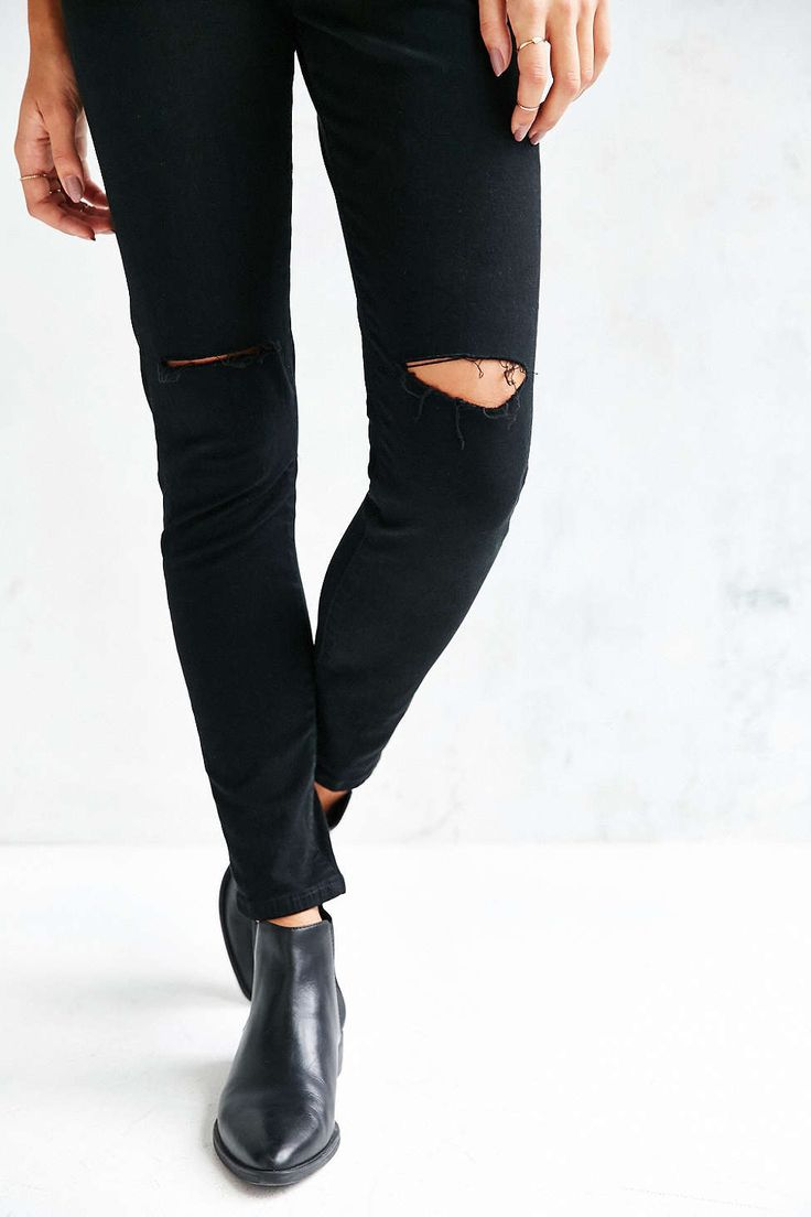BDG Twig Ripped High-Rise Skinny Jean - Black