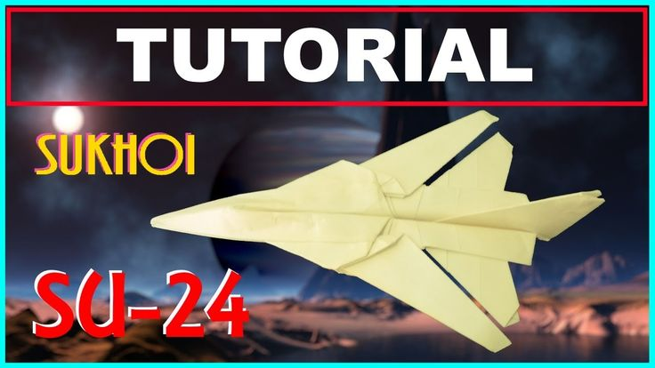 Origami Airplanes - Tutorial of the Sukhoi SU 24 Fencer modified with swinging wings: This is the tutorial of the Sukhoi SU 24 Fencer modified in order to allow the swinging of the wings. Made with an A4 format with no cuts and no glue.