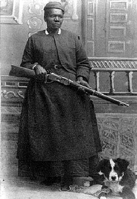Mary Fields, aka: Stagecoach Mary (1832-1914) - Born as a slave in Tennessee, Fields was one of the first women entrepreneurs, stagecoach drivers, pioneers of the American West.  Orphaned as a child, she grew up with Ursuline nuns. She left the convent when she was still in her teens and traveled West. Living by her wits and strength, she became known, as a hard drinker, a notorious brawler, a cigar smoker and one of the wildest women of her time.
