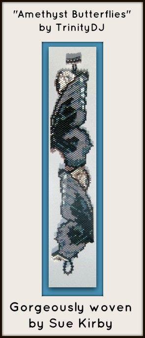 BP-BR-057  Amethyst Butterflies  Brick Stitch by TrinityDJ on Etsy