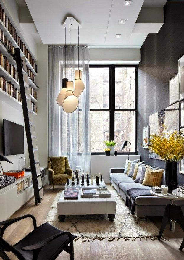 20 Stylish Functional Solutions For Decorating Narrow Living