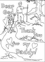Father's day coloring pages--Spend time praying for Daddy as they color
