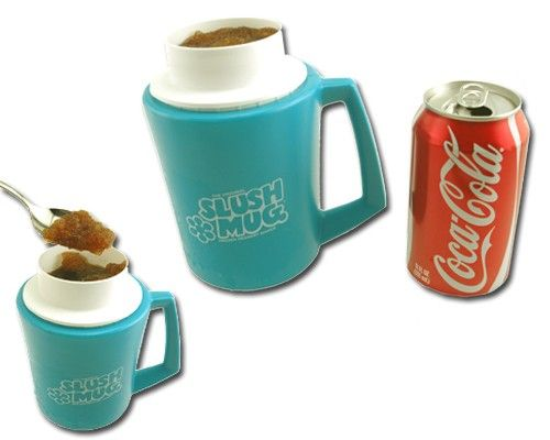 I had 2 of these in red. In seconds, your drink became a slushy! Wish I still had mine