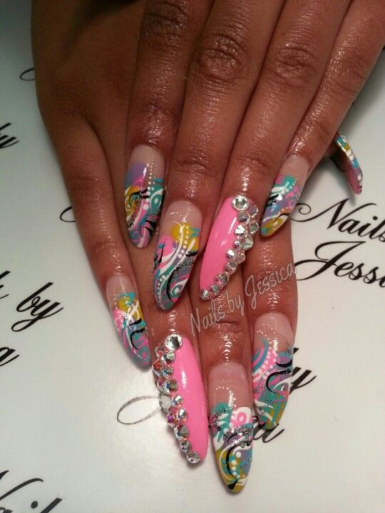fancy plain colour nail designs for long nails following inspiration article - 23 Fine Nail Designs For Long Nails – Slybury.com