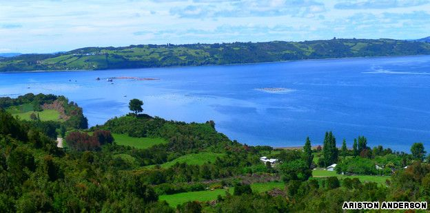 """""""Off the southern coast of Chile, Chiloé Island remains largely untouched by modern tourism"""" http://en.wikipedia.org/wiki/Chilo%C3%A9_Archipelago"""