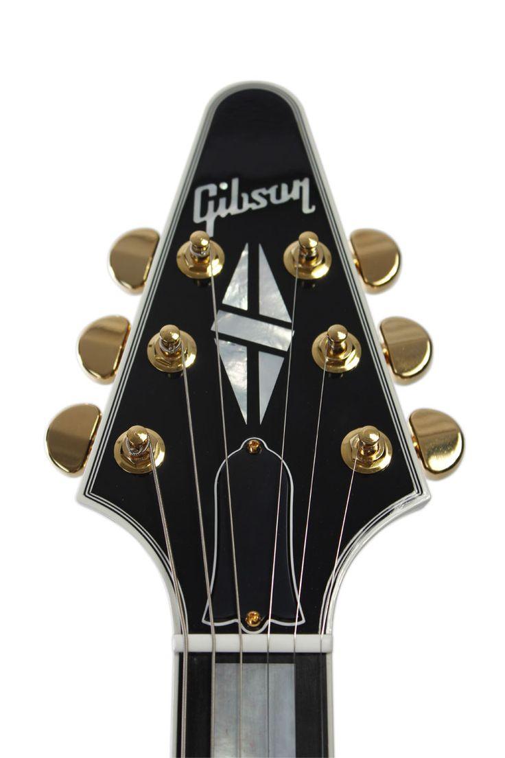 GIBSON FLYING V CUSTOM SHOP EBONY + ETUI - GUITARES ÉLECTRIQUES - CUSTOM SHOP | Woodbrass.com