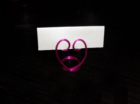 **1*****//        Tutorial segnaposti nozze in fil di ferro a forma di cuore