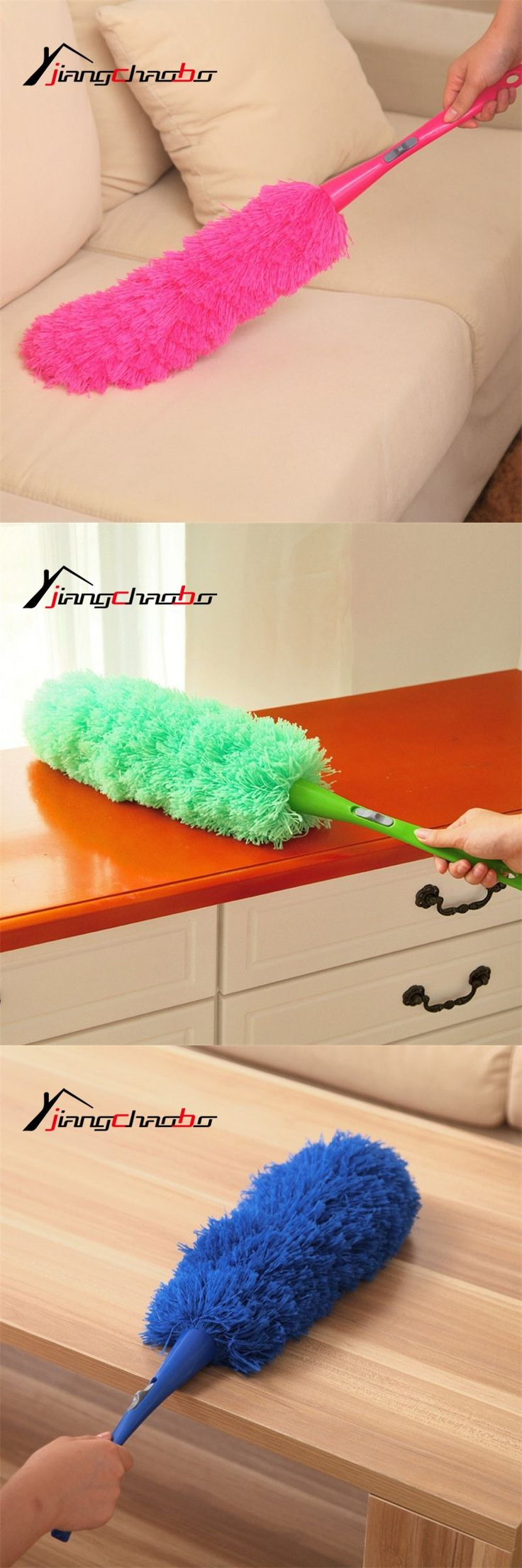Magic Soft Microfiber Cleaning Duster Dust Cleaner Handle imitation Feather Static