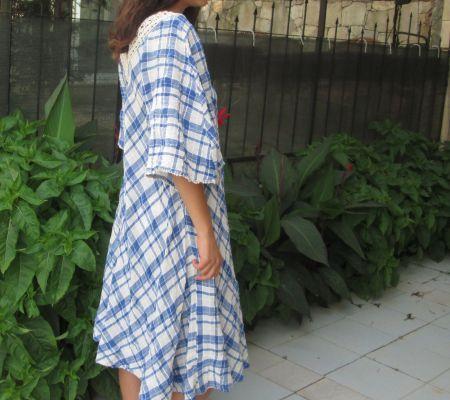 Vintage Yazlık İşlemeli Elbise