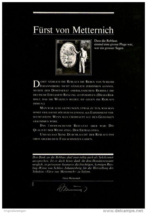 Original-Werbung/ Anzeige 1967 - FÜRST VON METTERNICH SEKT - ca. 180 x 240 mm