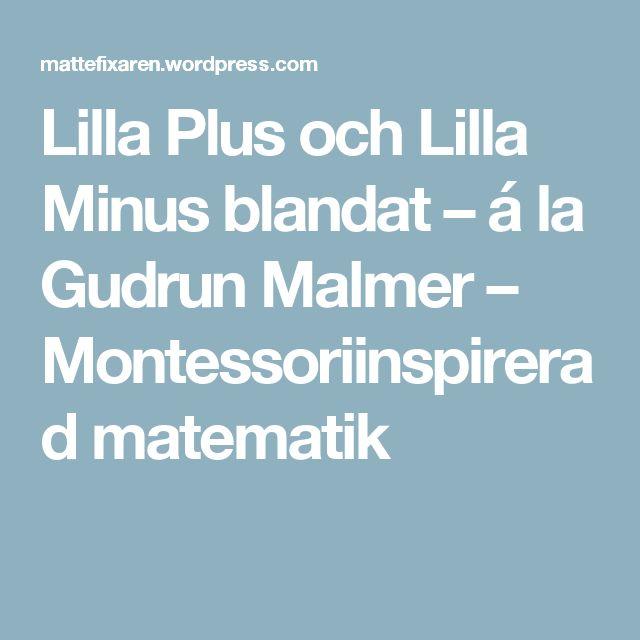 Lilla Plus och Lilla Minus blandat – á la Gudrun Malmer – Montessoriinspirerad matematik
