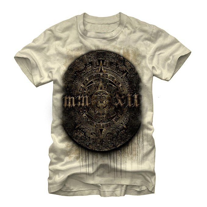 Aztlan Aztec Stone Mens Graphic T Shirt - Aztlan