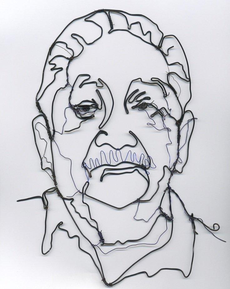 Contour Line Drawing With Wire : Best images about art projects wire sculpture on