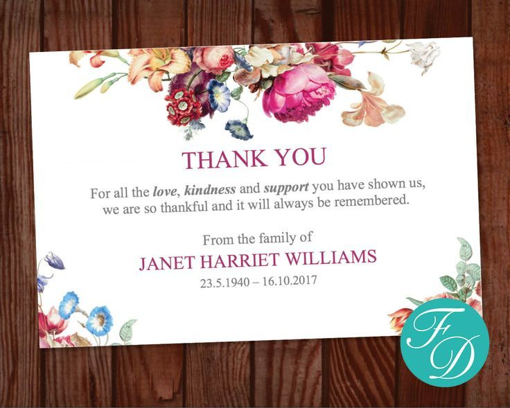 Funeral Thank You Cards Floral Funeral Thank You Cards Etsy Funeral Thank You Funeral Thank You Cards Funeral Thank You Notes