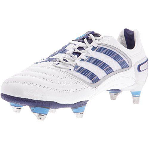 "Adidas - Xavier ""Xavi"" Hernandez - Scarpe Tacchetti Calcio - Calcetto uomo - Predator Absolute X CL SG - Bianco T 41"