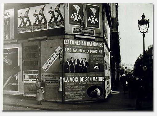 Comedian Harmonists-Reklame in Paris um 1934