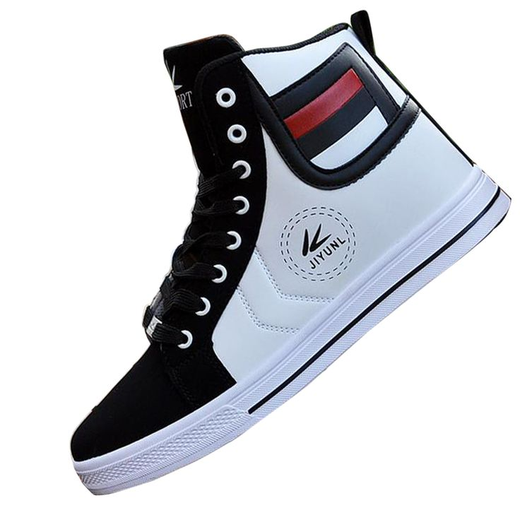 >> Click to Buy << Autumn High Tops Quality For Men Casual Leather Boots Lace Up Black White Gold Color style Men Fashion Shoes Xmas gift #Affiliate