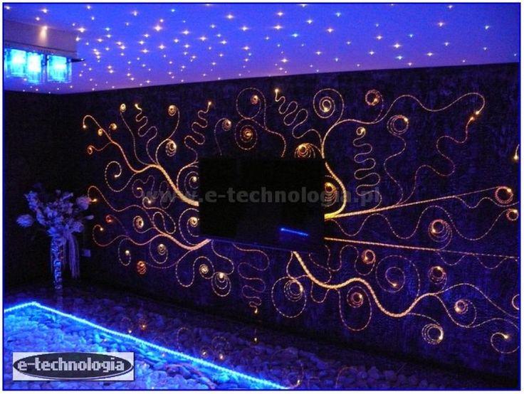 Oświetlenie dekoracyjne ściany Fala Świetlna e-technologia
