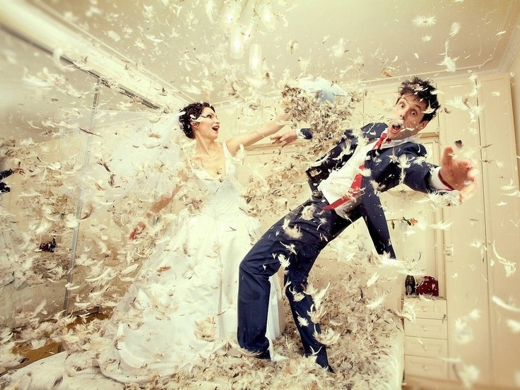 my wedding will look like thisDresses Wedding, Pillows Fight, Photos Ideas, Unique Wedding, Eduard Stelmakh, Married Life, Funny Wedding Photos, Wedding Photography Poses, The Dresses