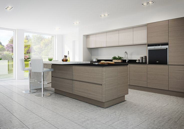 Image result for handleless cashmere gloss kitchen