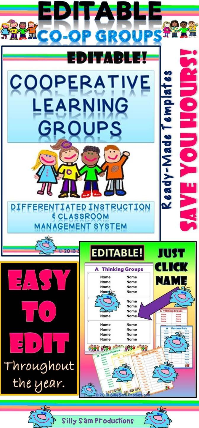 Collaborative Learning Classroom Management ~ Cooperative learning groups differentiated instruction