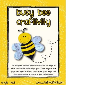 Grab this free BEE craft and tree map to supplement your science activities! Check out my blog at www.fallintofirst.com to see how I am using this activity in my first grade class! Become a follower so you don't miss out on other great freebies!