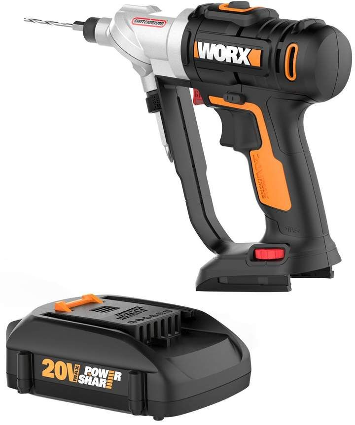 Worx 20v Switchdriver Drill Driver With Two Batteries Qvc Com Drill Driver Drill Cordless Drill
