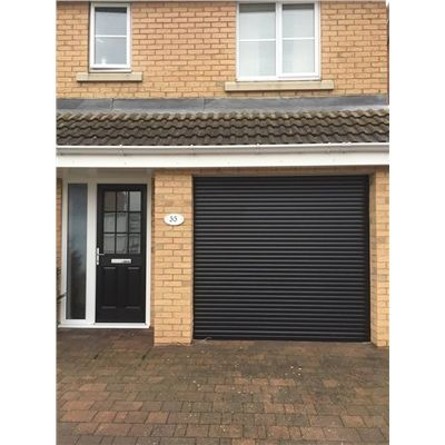 Full House: Roller Shutter Garage Door In Black, UPVC Casement Windows U0026  The Kettering Composite Door In Black With Clear Glazing And Sidelight |  Pinterest ...