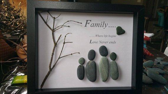 Family Pebble Art by SDCreations0813 on Etsy