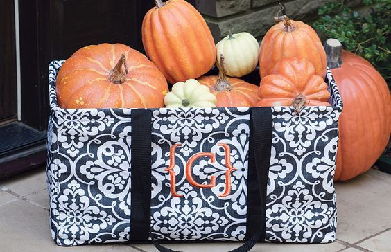 Create a beautiful display of fall pumpkins with the Large Utility Tote