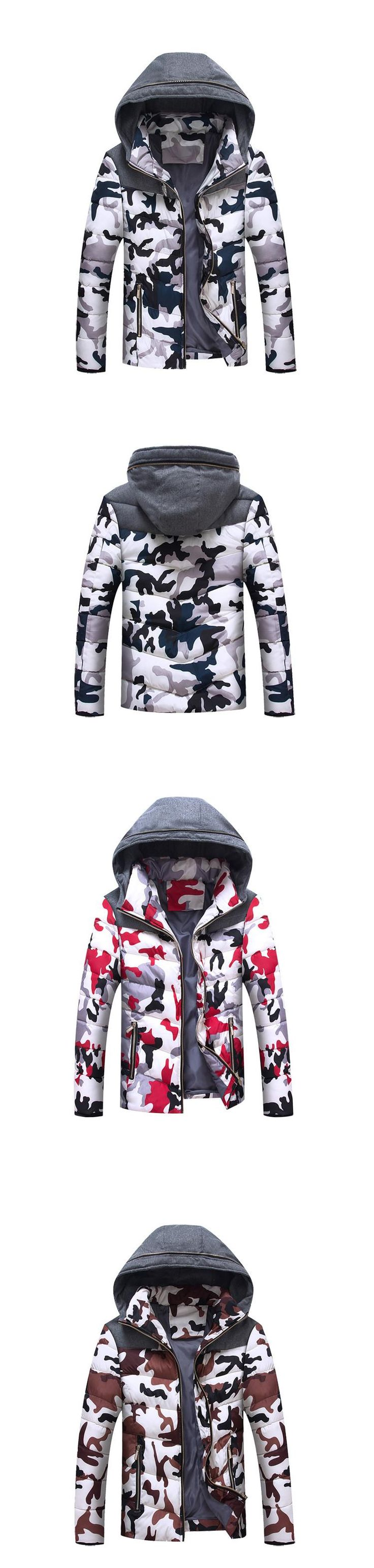 Aliexpress.com : Buy Grandwish 2016 New Men's Camouflage Winter Coats Warm Cotton Padded Mens Down Hooded Jackets Coats Thicken Parkas Men 3XL from Reliable down parka men suppliers on Trending Jewelry