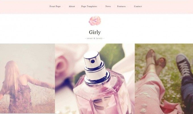 Wordpress theme for girls...  Features: WordPress Theme Customizer Responsive Design Many Different page templates Post Formats WPML compatible Jetpack Widget Visibility  #wordpress #webdesign #girls #pink #women #html  http://goo.gl/MJKrX7