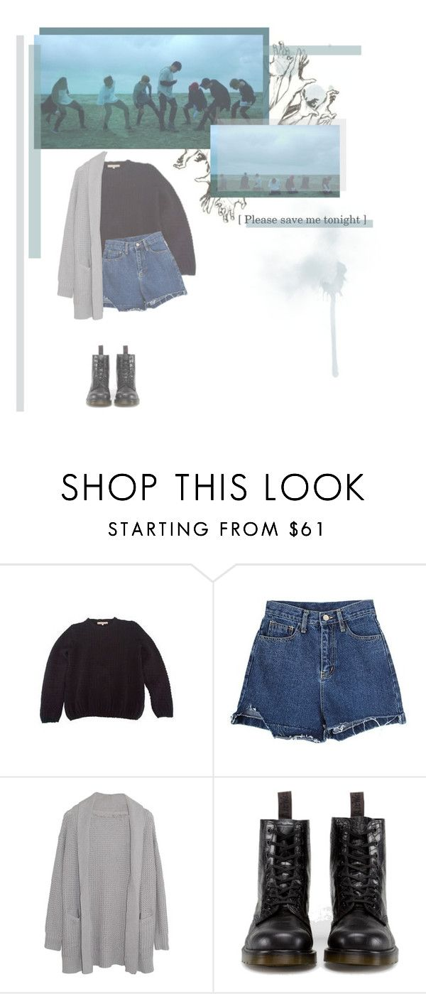"""Save me // BTS"" by rebekahsalvadore ❤ liked on Polyvore featuring Vanessa Bruno, Margaret O'Leary and Dr. Martens"
