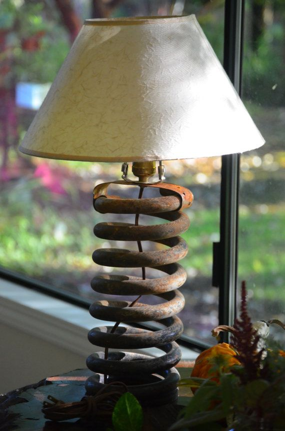 Rat Rod Industrial Lamp Upcycled from Hardened by CatkinsCreations