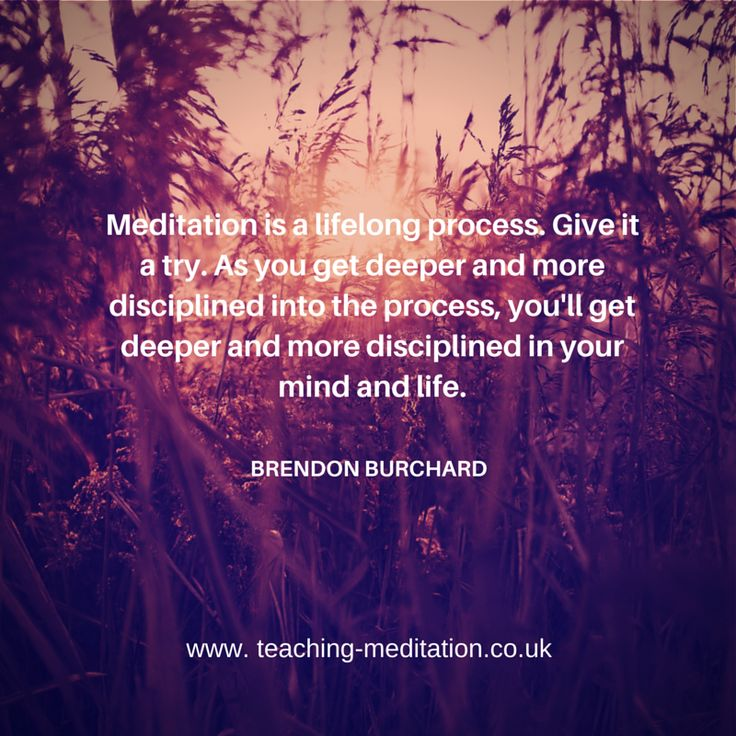 Meditation can travel with you through your life Fab Brendon Burchard quote