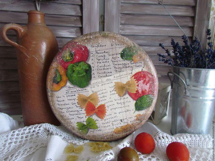"""Купить Сырная доска """"Домашние рецепты """" - прованс, винтаж, под старину, состаренный, ретро"""