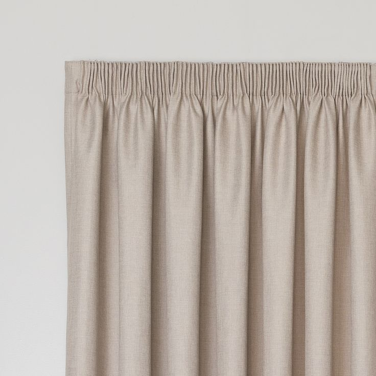 Bentley Pumice - Readymade Thermal Pencil Pleat Curtain - Curtain Studio buy curtains online